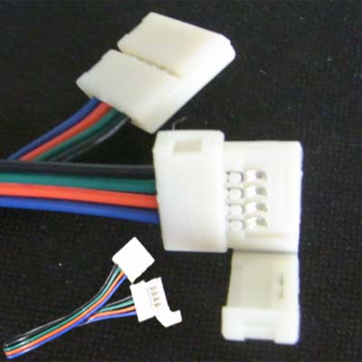 12mm solderless 4 pin connectors with wire connecting