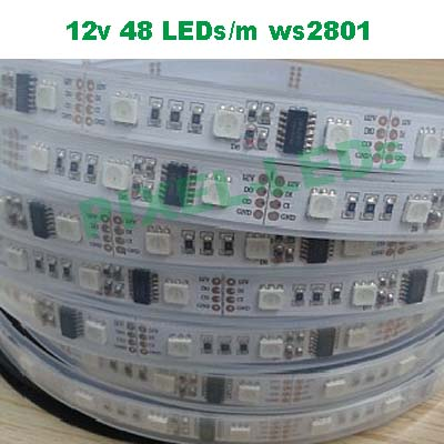 12v 48 LEDs/M ws2801 LED strip