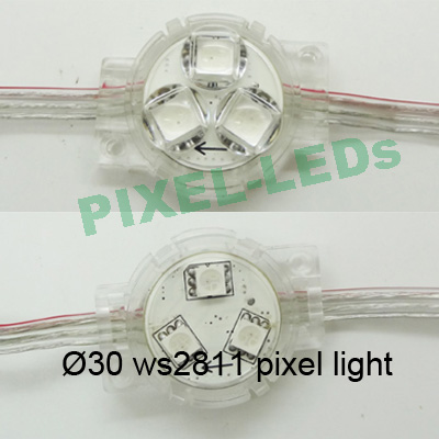 Diameter 30MM ws2811 led lens module light