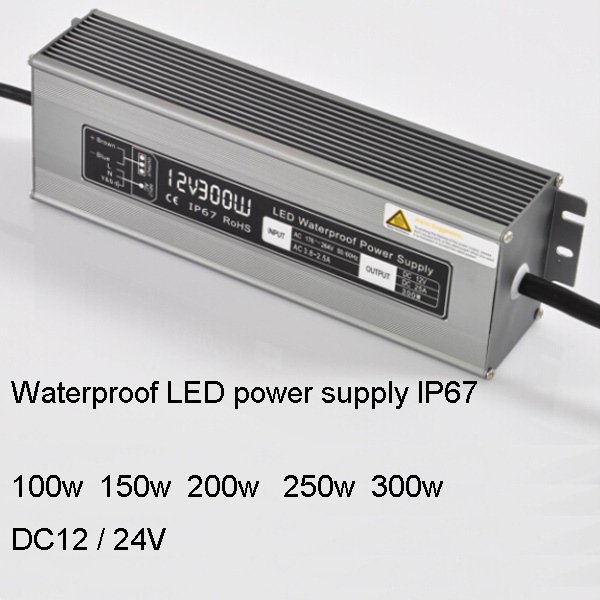 DC12v 100/150/200/250/300w LED waterproof power supply