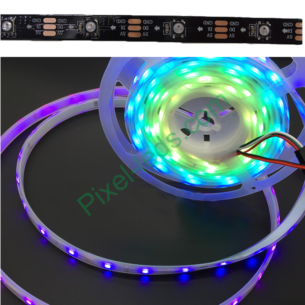 Black inbuilt lamp SK6812 Pixel RGB 30 LED strip