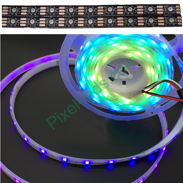 Black inbuilt lamp SK6812 Pixel RGB 60 LED strip