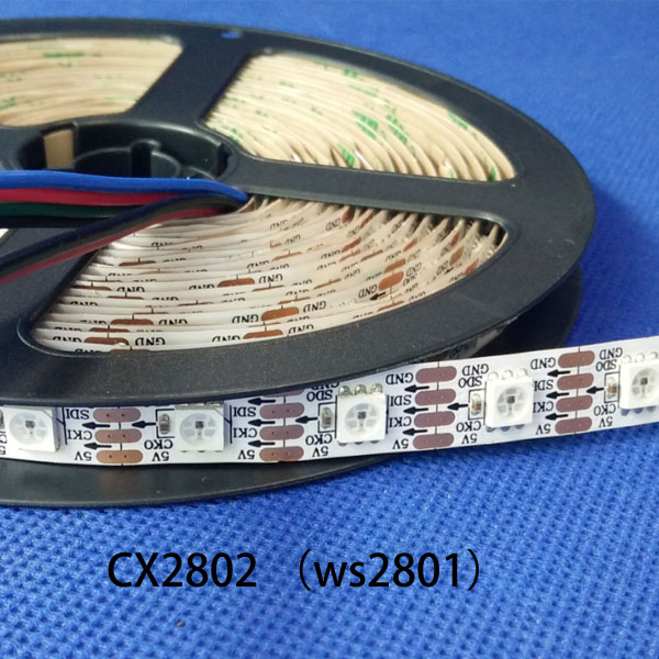 DC5V 60 LEDs/m CX2802 ws2801 pixel LED tape