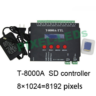 8192 pixels 8000A SD card LED controller