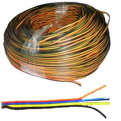 22awg 4 pin cables Red, Yellow, Blue, Black