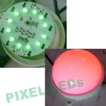 DC24v diameter 100mm 12pcs 5050 RGB ws2811 pixel LED dot light