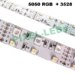12v 5050+3528 RGBW double row 120 LED strip light