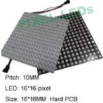 Rigid LED Matrix panel ws2812b 16×16 pixels