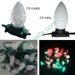 C9/G40 milky/crystal ws2811 pixel Christmas LED string