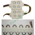 SMD5050 RGB LED sign injection molding 4 LED module