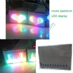 sound interactive music spectrum LED display panel