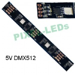5v 24 LEDs/m DMX512 black FPC addressable LED strips