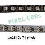DC 5v 74 LEDs/m ws2812b pixels LED strip lights