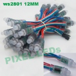 5v 12mm ws2801 rgb pixel LED string